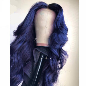 Dark Blue 13*3 Swiss HD Lace Front Body Wave Wigs ONLINE ONLY - Elegance24seven Hair