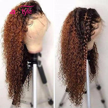 Load image into Gallery viewer, Kinky Curly Ombre Lace Front Honey Blonde Human Hair Wigs ONLINE ONLY - Elegance24seven Hair