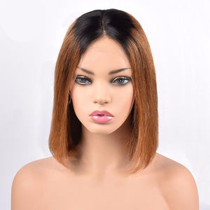 Short Bob 13X6 Lace Front 1B/30 Ombre Wig ONLINE ONLY - Elegance24seven Hair