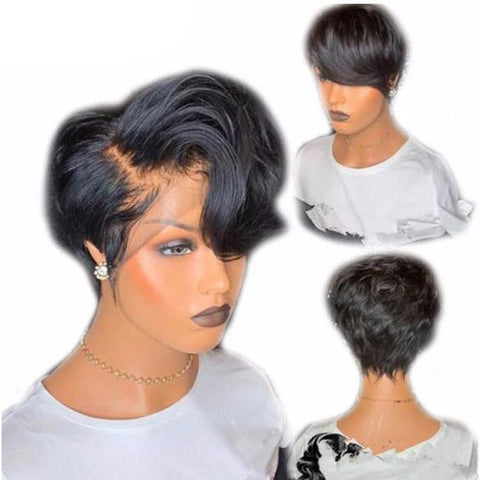 Pixie Cut Short Bob Lace Front Human Hair Wig ONLINE ONLY - Elegance24seven Hair