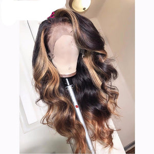 Honey Blonde Ombre 100% Human Hair Body Wavy Lace Wigs ONLINE ONLY - Elegance24seven Hair