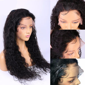 Brazilian Water Wave Wig 13*4 Lace Front Human Hair 150% Density Remy Hair - Elegance24seven Hair