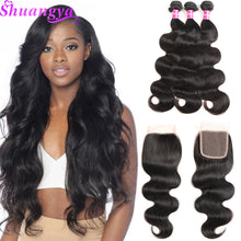 Load image into Gallery viewer, Brazilian Body Wave Hair 3 Bundles With Closure (Available Online Only) - Elegance24seven Hair