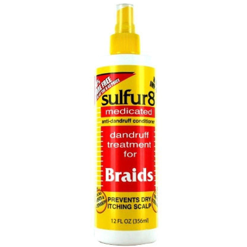 Sulfur 8 Braid Spray Dandruff Treatment (8oz) +4oz free#9 - Elegance24seven Hair
