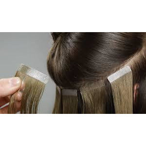 "10A Grade (Straight 100G 24"") Tape In Human Hair - elegance24sevendotcom"