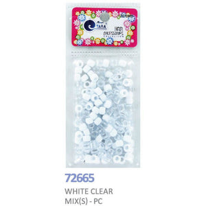 Tara Bead (S) #72665 White Clear Mix