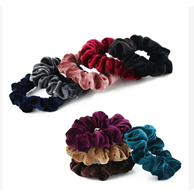 Load image into Gallery viewer, Velvet Elastic Hair Band Scrunchie - Elegance24seven Hair