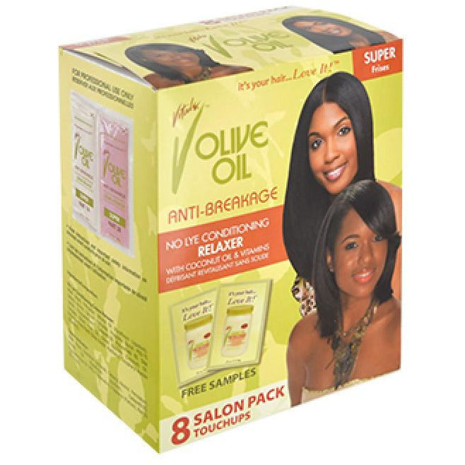 Vitale Olive Oil No Lye Relaxer kit [8touchups]-Super #49 - Elegance24seven Hair