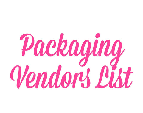 Packaging and Label Vendors