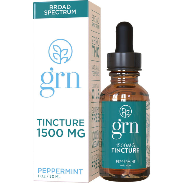 CBD Oil Tincture - Broad Spectrum - Peppermint