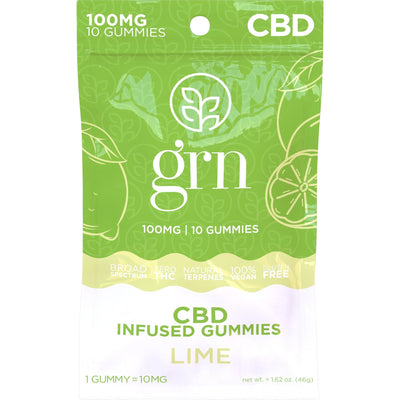 100mg Bag of Lime Flavored CBD Gummies