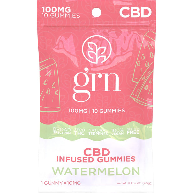 100mg Bag of Watermelon Flavored CBD Gummies