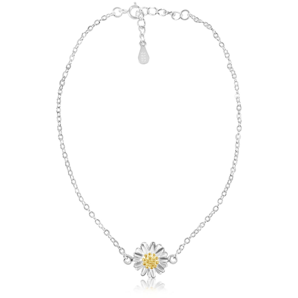FRESH AS A DAISY STERLING SILVER ANKLET