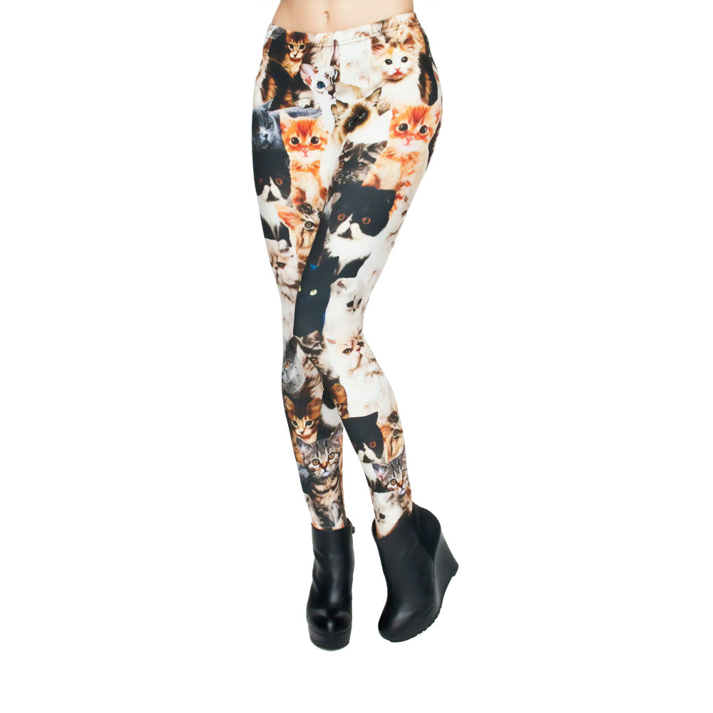 LeisureLegs cats legging front view