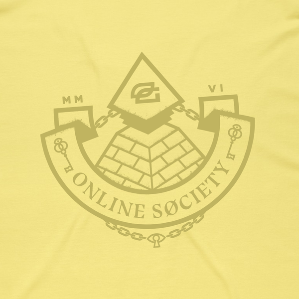 Online Society Tee - Lemon