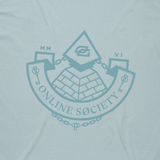 Online Society Tee - Pale Blue