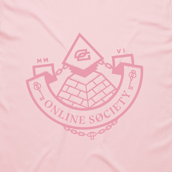 Online Society Tee - Pink