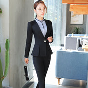Formal Autumn Winter Professional Pantsuits With Jackets And Pants Office ladies Business Women Pant Suits Female Trousers Sets