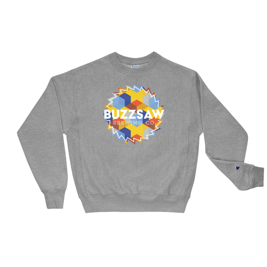Buzzsaw logo--champion crewneck | Buzzsaw Brewing Co