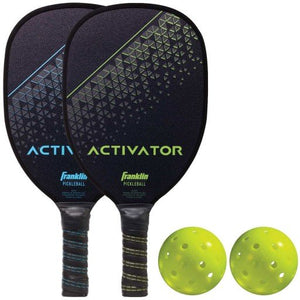 FRANKLIN PICKLEBALL - RECREATIONAL - 2 PLAYER WOODEN PADDLE & BALL SET