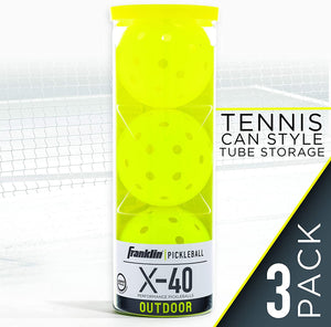FRANKLIN X-40 PICKLEBALLS OUTDOOR  3-PACK