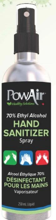 PowAir - HAND SANITIZER SPRAY - 250ml