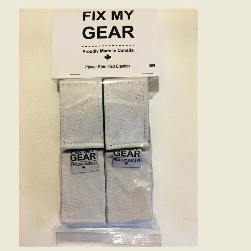 FIX MY GEAR - SHIN GUARD ELASTICS - JUNIOR -WHITE Canada