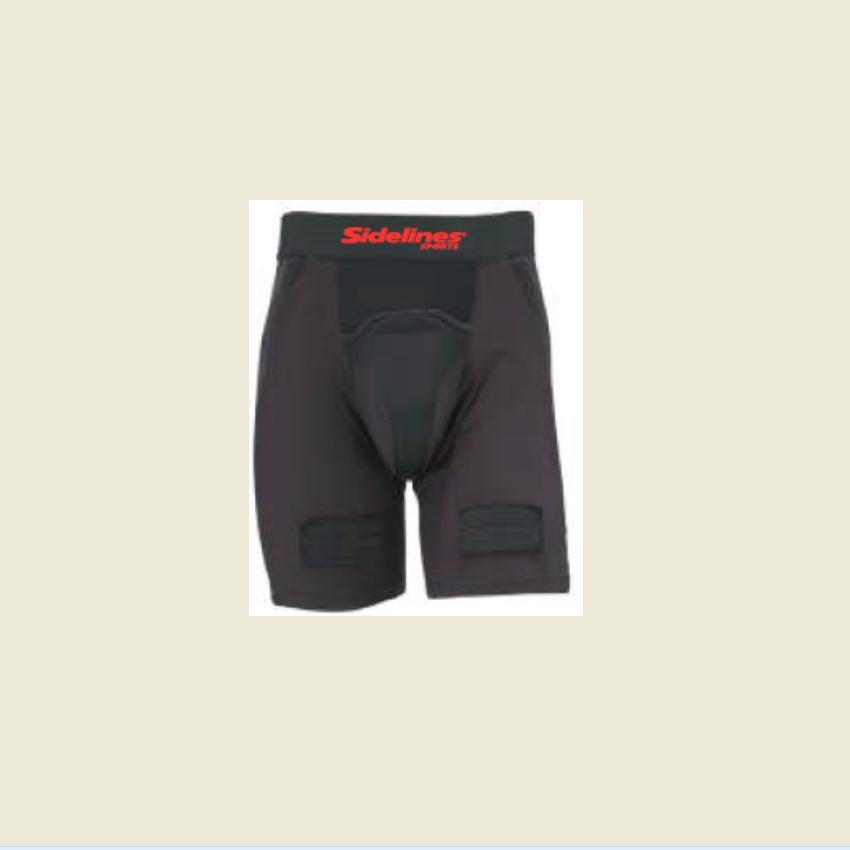 SIDELINES HOCKEY COMPRESSION SHORT W/CUP - JUNIOR SMALL Canada