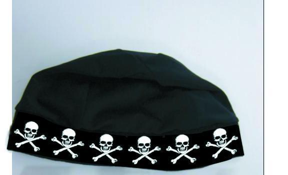 SKULL CAP - original with skull & bones band Canada