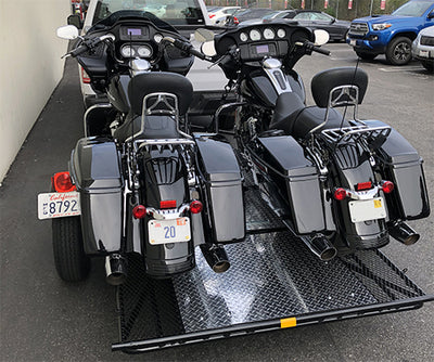 Motorcycle Trailers that Fold and Stand-Up