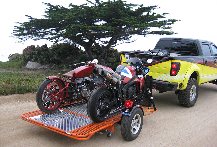 48a04b50d82 Dual Rail Folding Motorcycle Trailer and Cargo Trailer – Kendon ...