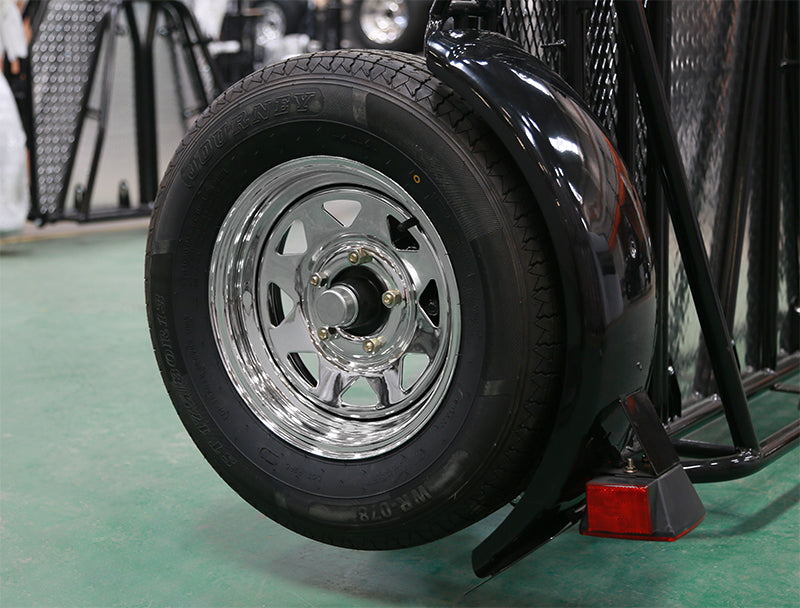 Go! Series Chrome Trailer Wheels and Radial Tires