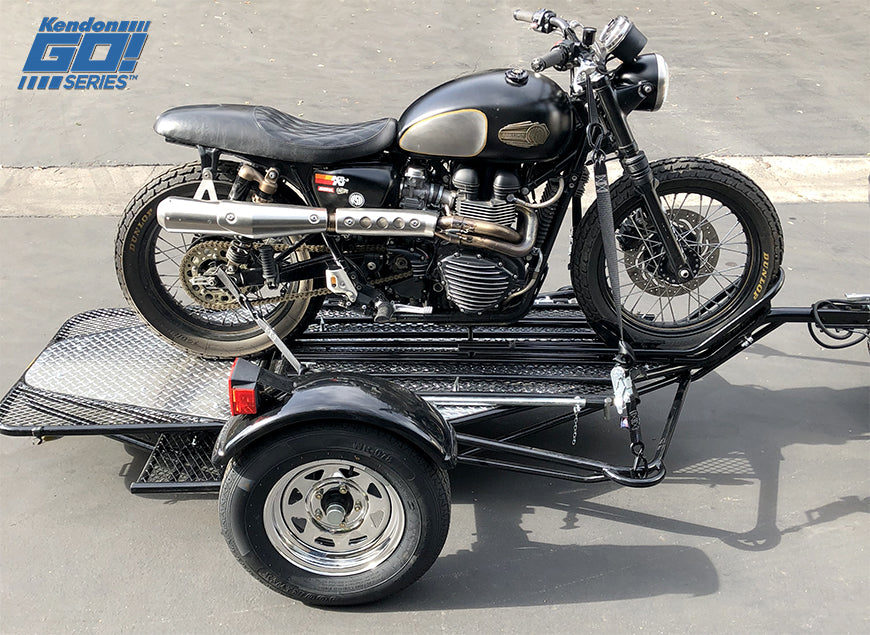 motorcycle trailer single kendon rail folding ride go series flying solo