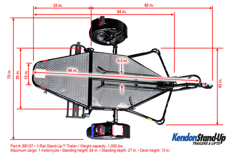 wells cargo fast track trailer wiring diagram on stand-up™ single rail  folding motorcycle trailers – kendon     on