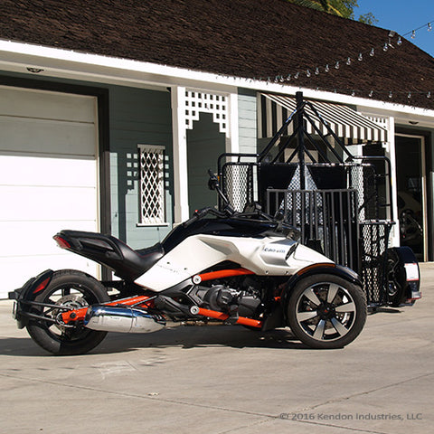 Factory Blemish Model [BLACK]- Trike/Spyder Ride-Up SRL Stand-Up Motorcycle Trailer