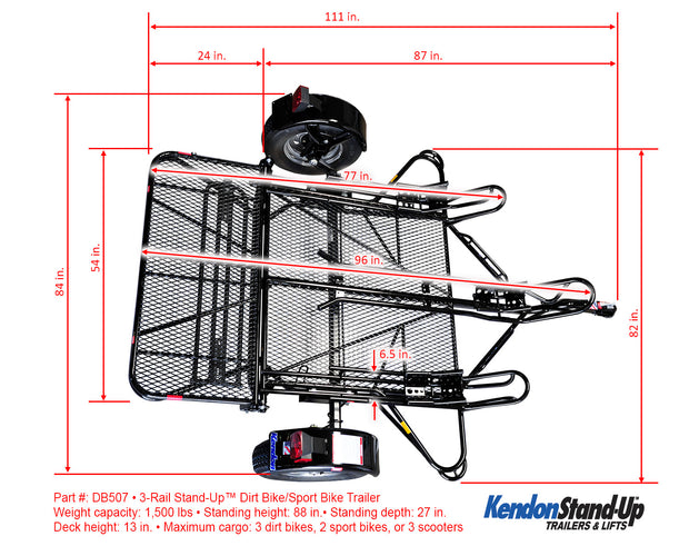 Stand-Up™  Dirt Bike Trailer, Sport Bike & Scooter Trailer