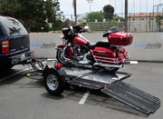 Dual Ride-Up SRL Trailer with Harley