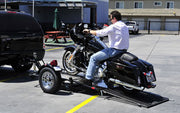 Single Ride-Up SRL Stand-Up™ Motorcycle Trailer