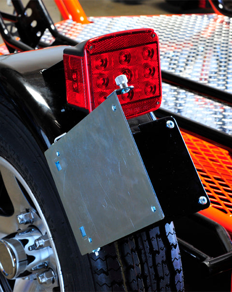 Bolt-On Swing Out License Plate Holder