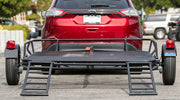 Folding Utility Trailer with Loading Ramps