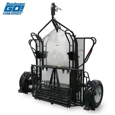Go! Series Dual Ride-Up Motorcycle Trailer Folded