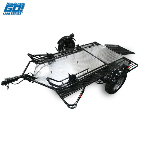 Go! Series Dual Ride-Up Motorcycle Trailer Open