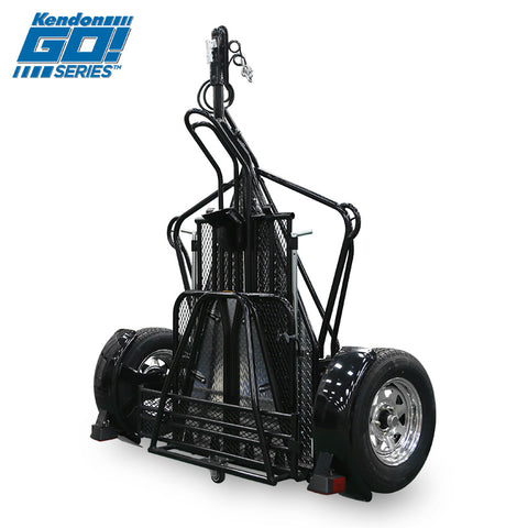 Go! Series Single Rail Ride-Up Folding Motorcycle Trailer