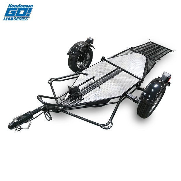 Go! Series Single Ride-Up Motorcycle Trailer Open
