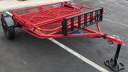 Folding Utility Trailer in Red Texture Color
