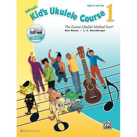 Alfred's Kid's Ukulele Course 1 by Manus and Harnsberger