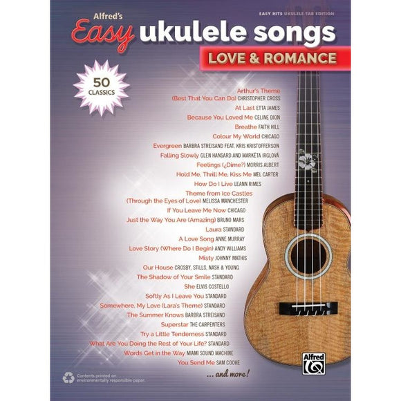 Alfred's Easy Ukulele Songs: Love & Romance