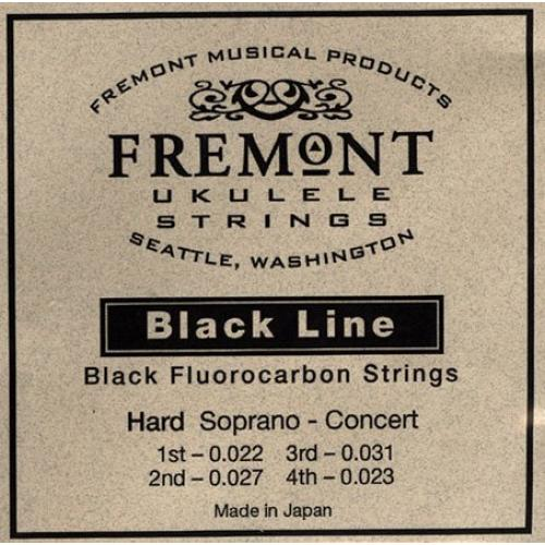 Fremont STR-FH Blackline Hard Tension Soprano/Concert Ukulele Strings