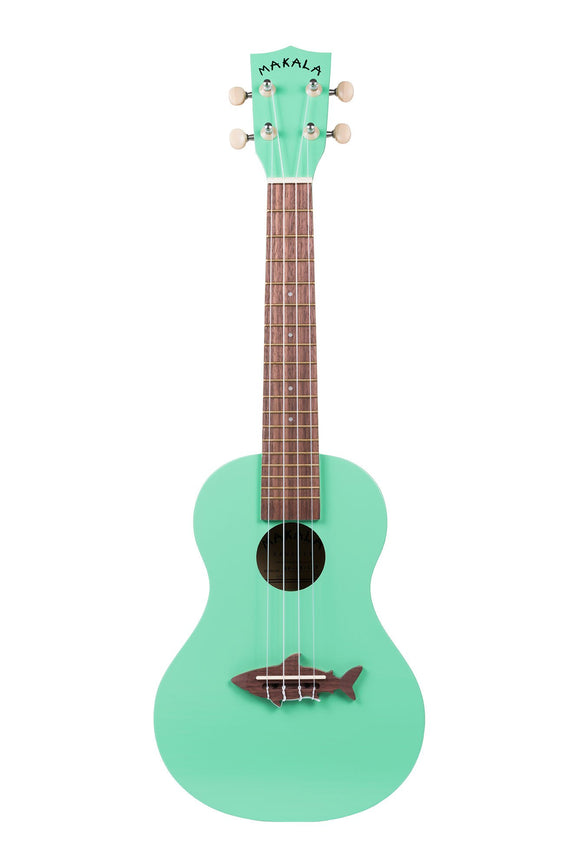 Makala Surf Green Shark Bridge Concert Ukulele MK-CS-GRN