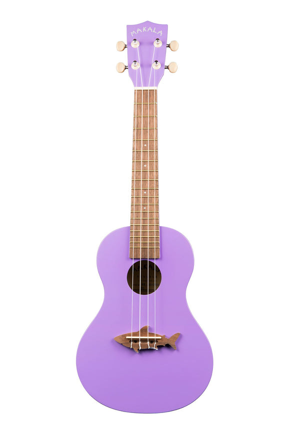 Makala Sea Urchin Purple Shark Bridge Concert Ukulele MK-CS-PUR